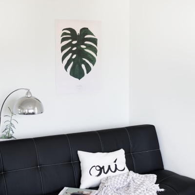 Monstera Delicious Print - Black