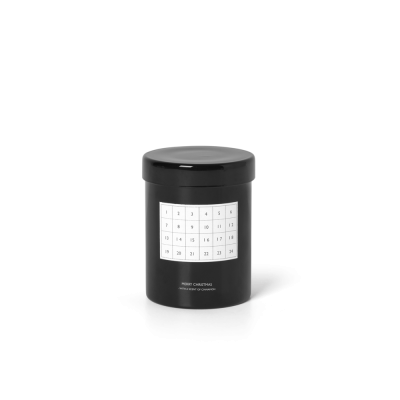 Scented Christmas Candle - Black