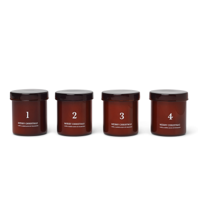 Scented Advent Candles - Brown