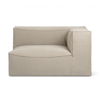 Catena Sofa with Armrest - Rich Linen - Natural
