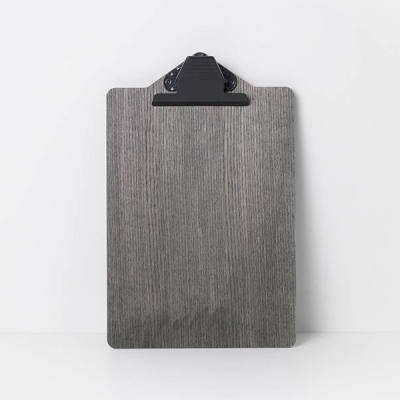 Clip Board - Stained Black - A4