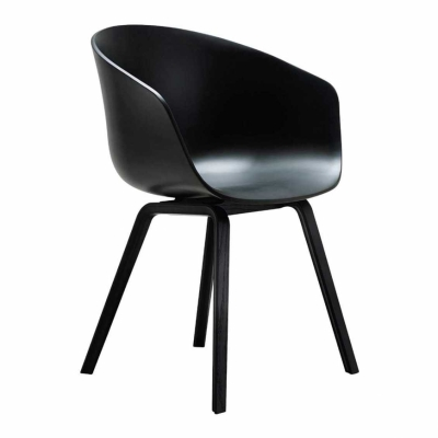About A Chair AAC22 - Black Base - Black Shell