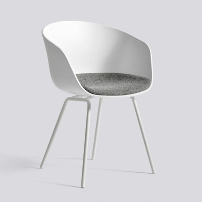 About A Chair AAC26 - Fixed Seat Cushion - White Shell - Hallingdal 126