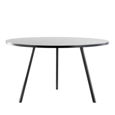 Loop Stand Round Table - 105 cm dia - Black/White