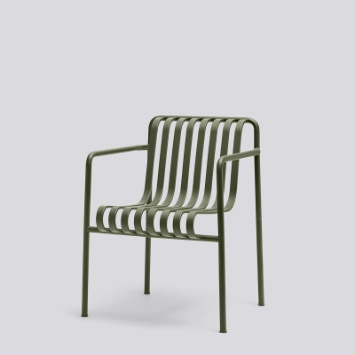 Palissade Dining Armchair - Anthracite/Olive/Sky Grey