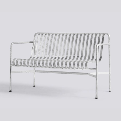 Palissade Dining Bench - Hot Galvanised
