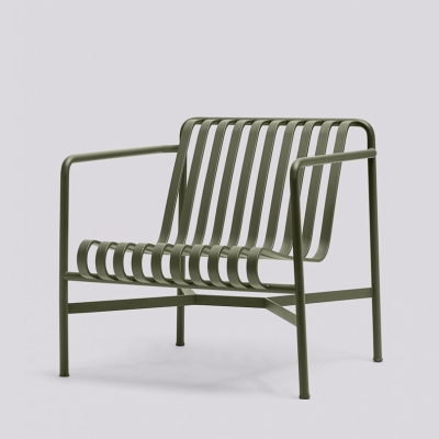 Palissade Lounge Chair Low - Anthracite/Olive/Sky Grey