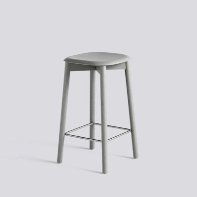 Soft Edge 32 Stool H65 - Grey Stained Oak