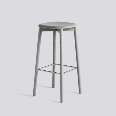 Soft Edge 32 Stool H75 - Grey Stained Oak