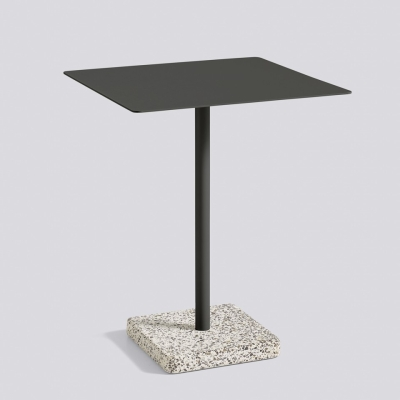 Square Terrazzo Table - Grey Base - Charcoal Top