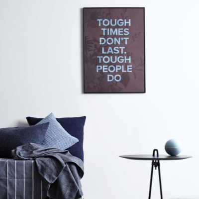 Tough People Poster - Claret - 50x70