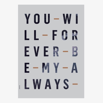 Forever Always Poster - Powder Blue - 50x70