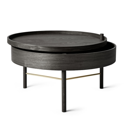 Turning Table - Black Ash/Brass