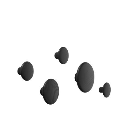 Dots - Black (set of 5)
