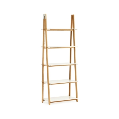 One Step Up Bookcase - High - White