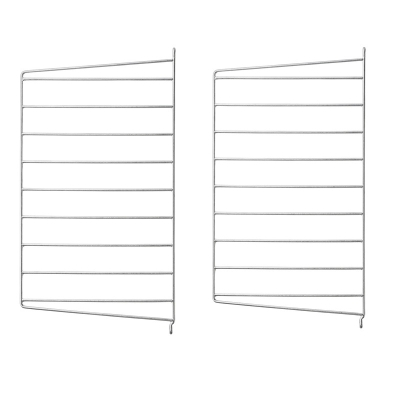 Side Panel Floor (set of 2) - 50cm x 30cm - Galvanized (Outdoor Use)
