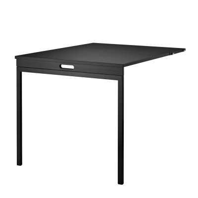 Folding Table - Black Stained Ash - Black