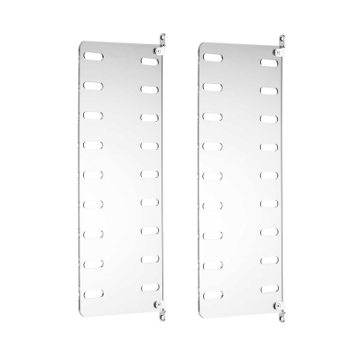Side Panel Wall (set of 2) - 50cm x 20cm - Perspex